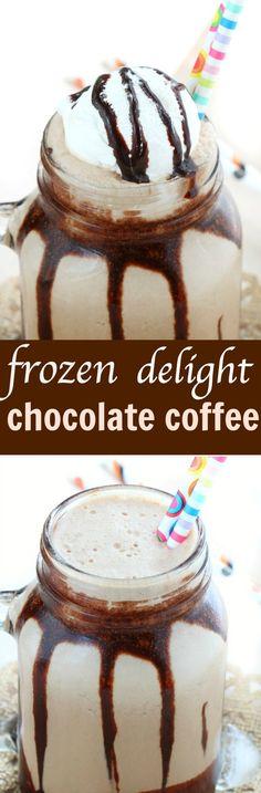 frozen chocolate coffee delight
