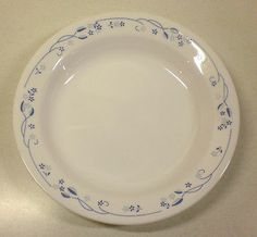 Corelle - PROVINCIAL BLUE - Flat Rimmed CEREAL / SOUP / SALAD BOWL Plate - 8.5 & Dinner plate- Vintage Corning Corelle dinner plate in the Island ...