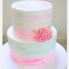 Beautiful Watercolor Buttercream Tutorial by MyCakeSchool.com! Online Cake Decorating Classes & Recipes!