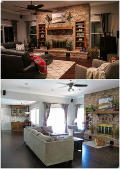 Living Room With Brick Fireplace living room red brick fireplace decor | formal living room