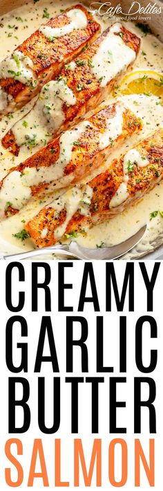 Salmon recipes 242772236149884831 - Creamy Garlic Butter Salmon Source by TriedandTasty Salmon Recipes, Fish Recipes, Seafood Recipes, Low Carb Recipes, Dinner Recipes, Cooking Recipes, Healthy Recipes, Recipies, Fish Dinner