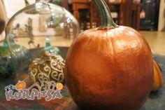Halloween copper pumpkin  Halloween kuparinen kurpitsa