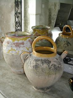 La Pouyette: My favorite Brocante - Finds...19th century confit pots and wine jars