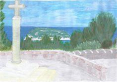 Cala del Portixol - Javea / Spain (acrylic on paper - 27/08/13)