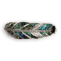 Fossil Abalone Feather Cuff Bracelet #VonMaur #PurpleandGreen