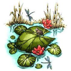 Pond a Lily Digi Stamp in Digital images
