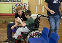 Craig said it was 'cool' to meet Prince Harry, adding: 'I didn't think he would be here today. It was such a surprise to see him. He was just one of dozens of youngsters the royal chatted to on the day