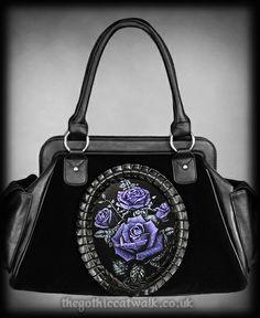 cameo purses and handbags | Deadly Rose Hologram Gothic Cameo Bag