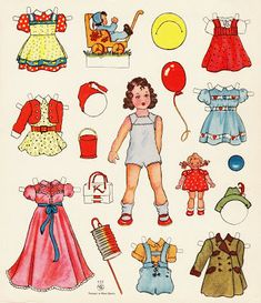 Paper Doll Sheet - Brunette Girl - Costumes & Toys - Printed in West Berlin, Germany Paper Toys, Paper Crafts, Card Crafts, Imagenes Betty Boop, Paper People, Vintage Paper Dolls, Brunette Girl, Online Collections, Clothes Crafts