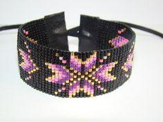 Articles similaires à Bracelet Indien Hana sur Etsy Loom Bracelet Patterns, Seed Bead Patterns, Bead Loom Bracelets, Beading Patterns, Seed Bead Jewelry, Beaded Jewelry, Bead Loom Designs, Loom Beading, Bead Weaving
