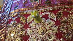 Alien on a pillow from Granada.