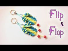 Macrame key chain tutorial The simple heart - Easy macrame idea craft - YouTube