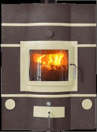 Ecco Stove ® E850 in Honey Glow Brown with Almond trims and castings. #eccostove #designyourowne850 #alternativeheating