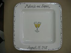 custom signature platter by Pottery Piazza