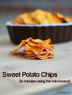 Sweet potato chips made in the microwave