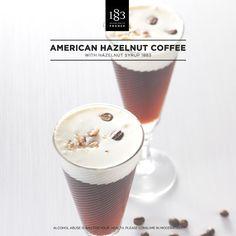 American Hazelnut Coffee, with Hazelnut 1883 Syrup. #Coffee #Barista