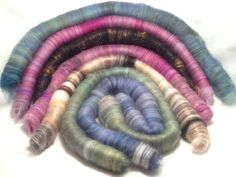 """Rolly Polly Rolags  by Havenwood Farms on Etsy """"O Beautiful"""" Rolag Set by Phoenix Fiber Co. featured !!!"""