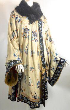 Orientalist Embroidered Silk Opera Coat circa 1920s - Dorothea's Closet Vintage