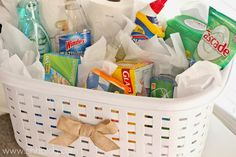 Gift Basket for Anybody Moving Into A New Home or Their First Place. Things People Actually Need, GENIUS!
