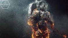 Astronaute Y & R Mexico par Jorge Pena & Benjamin Downey Astronaut Illustration, Illustration Art, Astronaut Wallpaper, Space Music, Astronauts In Space, Earth From Space, Photo Manipulation, Photo Art, Fantasy Art