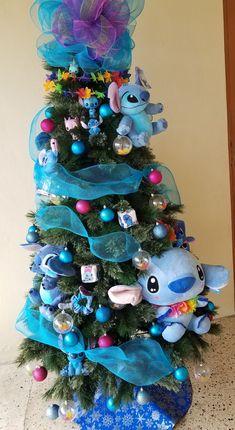 impressive stitch themed christmas tree disney christmas ornament disneychristmas diy - Disney Christmas Tree Decorations