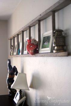 Inspiring for Rustic Living Room Wall Decor Design - My Little Think Rustic Wall Decor, Rustic Walls, Room Wall Decor, Diy Wall Decor, Wall Decorations, Country Decor, Unique Wall Decor, Rustic Wood, Old Ladder