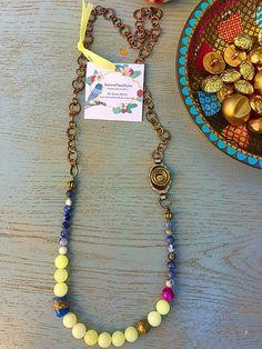 Boho statement Necklace/ retro beadwork / by KerenFleaStyle #retrostyle #styleinspiration #styleguide #bohochicjewelry #hippie #styling #bohochicjewelry #accessories #statementnecklace #fashion #frenchsole #fashionista #fashionjewelry #accessories #oneofakind #blogger #bling #handmadejewelry #jewelry #necklaces
