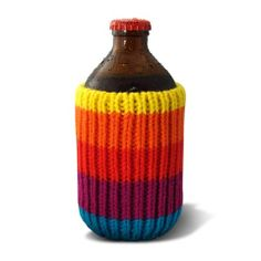 The Drink Toque - Mystic Beach.   Classic, vintage-style, knit koozie. Iconically Canadian.