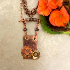 Floral Statement Necklace with Layers by WithTheseHandsCreate