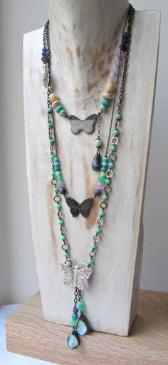 butterfly necklace by Clare at Something to Do With Your Hands