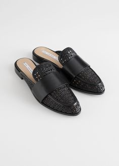 3cbbfe2aecf And other stories Pointed Woven Leather Slip Ons