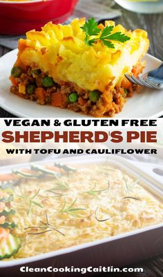 Check out this easy, plant-based, light, and healthy vegan Shepherd's Pie recipe! Kid-friendly and great for weight loss! Recipe with Irish and UK roots | easy vegan shepherds pie | tofu shepherds pie | shepherds pie recipe | vegetarian shepherds pie #veganshepherdspie #healthyshepherdspie Vegetarian Recipes Dinner, Vegan Dinners, Mexican Food Recipes, Vegan Recipes, Vegetarian Shepherds Pie, Eating Vegetables, Glass Baking Dish, Plant Based Eating, Cauliflower Recipes
