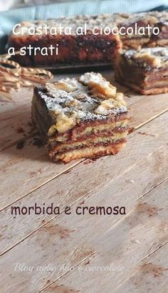 Chocolate Wafer Cookies, Chocolate Wafers, Chocolate Pies, Cake Cookies, Italian Desserts, Italian Recipes, Sweet Recipes, Cake Recipes, Jam Tarts