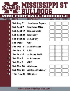 Mississippi State Bulldogs, Louisiana, Kansas, Kentucky