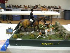 Examples of Performance Set UPs for Model Horse Shows: Showing Model Horses in Hunter Over Fences - Live Show Example