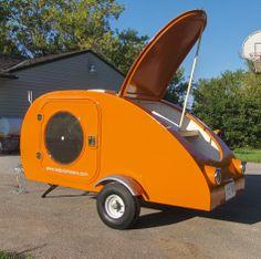 Orange Tadpole Teardrop Trailer