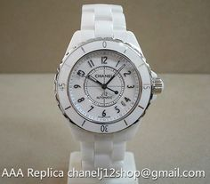 http://chanelj12.co - Chanel J12 White Ceramic Automatic 38mm Unisex H0970 Price USD297