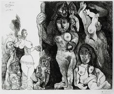 View Picassos Theater Eros and Women by Pablo Picasso on artnet. Browse more artworks Pablo Picasso from R. Pablo Picasso, Art Picasso, Picasso Portraits, Picasso Drawing, Picasso Sketches, Matisse Drawing, Picasso Prints, Cubist Paintings, Most Famous Artists