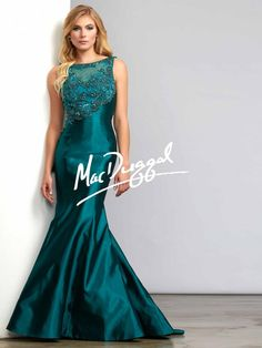 Teal Couture Dress | Mermaid Gown | Mac Duggal 10049D
