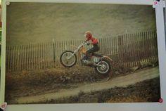 Vintage Motorcycle Motocross by Poster Prints 795 by VistaChick