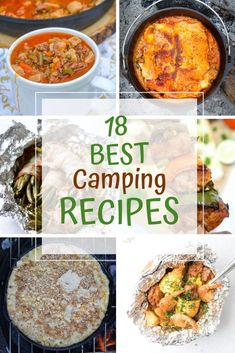 Try one of our 18 Best Campfire Recipes the next time you are ready to enjoy the great outdoors and go camping. Lots of great recipes ideas to choose from. Easy Camping Breakfast, Best Camping Meals, Backpacking Food, Camping Ideas, Campfire Recipes, Campfire Food, Summer Recipes, Great Recipes, Healthy Recipes