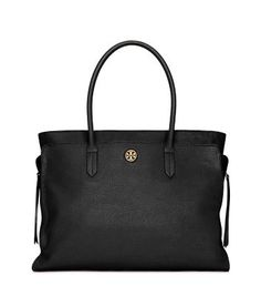 I LOVE this!!! I REALLY want this bag!! (Tory Burch Brody Large Tote - in Navy or Black)