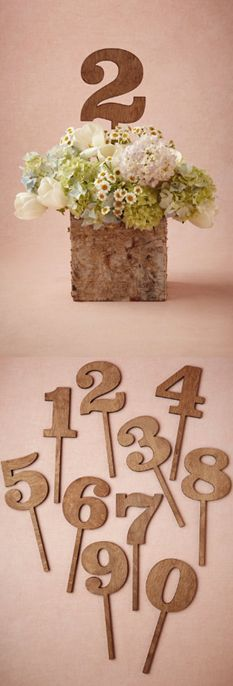 1 10 diy wood table numbers wedding glitter and sprays for Glitter numbers for centerpieces