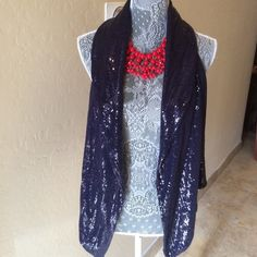 H&M  Sequenced Navy Blue Vest H&M Sequenced Navy Blue Vest. Brand New Without Tags... Fun & Festive  Gorgeous Shawl Collared Vest!  Lightweight soft Cotton lines this little beauty!  Snappy & Fun! . Will Fit Medium to Large without a problem! H&M Jackets & Coats Vests