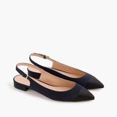 Slingback flats in satin