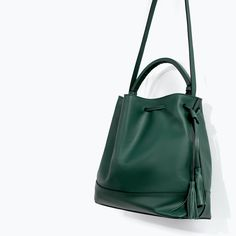 ZARA - WOMAN - LEATHER BAG WITH RIGID HANDLE