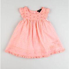 Toddler Eyelet Swiss Dot Dress