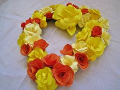 Colorful Heart WreathYear Round Paper Wreath by ThePurpleDream