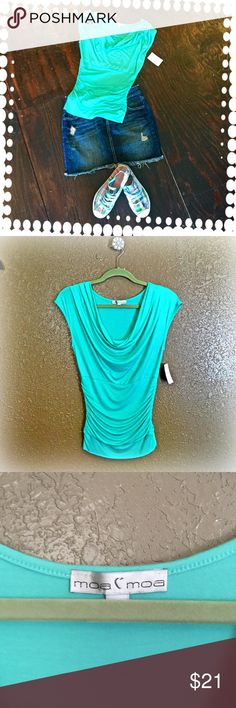 Moa Moa top Great color for summer!!! New with tags!! Tops Tees - Short Sleeve