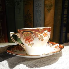 Vintage Rosina Cup and Saucer  English Bone China  by CraveCute